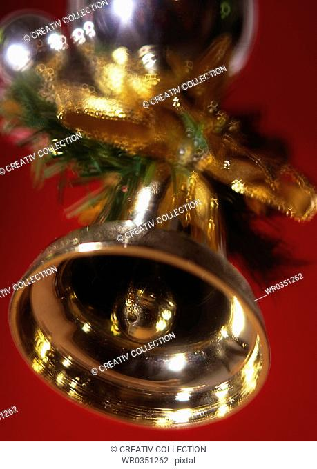 golden christmas bell ringing