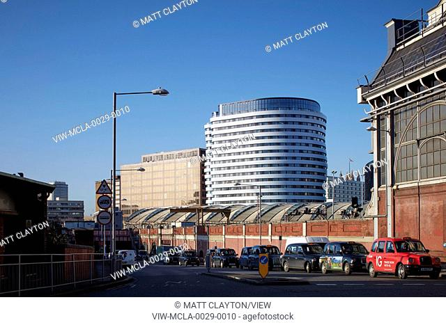 View from back of Waterloo Station. Westminster Bridge Road, London, United Kingdom. Architect: AHMM , 2015