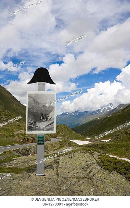 Napoleonic crossing post, Great St Bernard Pass, Col du Grand-Saint-Bernard, Colle del Gran San Bernardo, Pennine, Valais Alps, Switzerland, Europe