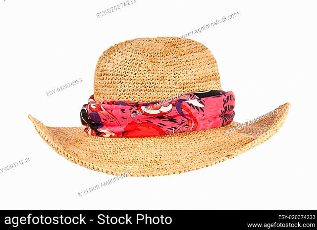 Summer hat isolated on the white background