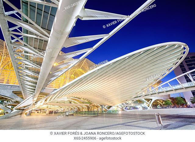 Gare do Oriente in Parque das Nações - Oriente station in Park of the Nations - from Santiago Calatrava architect, Lisboa, Portugal