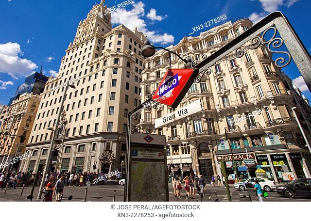 Underground, Gran Via, Madrid, Spain, Europe