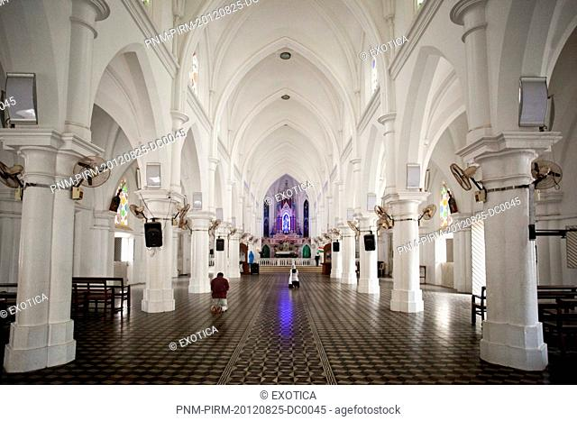 Interiors of a church, Our Lady of Ransom Church, Kanyakumari, Tamil Nadu, India