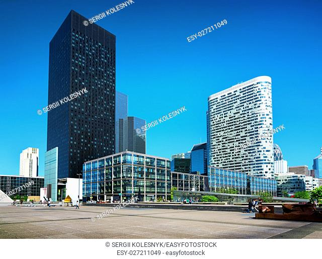 Modern district with skyscrapers in Paris, France