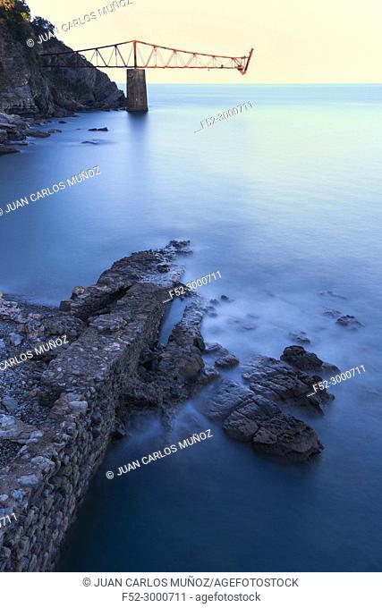 Cargadero de Dícido, Mioño, Castro Urdiales, Cantabrian Sea, Cantabria, Spain, Europe