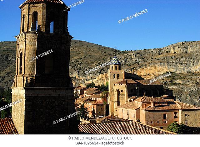 Tower of the church of Santa Maria in Albarracin, Teruel, Spain