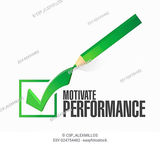 Motivate Performance check mark sign concept