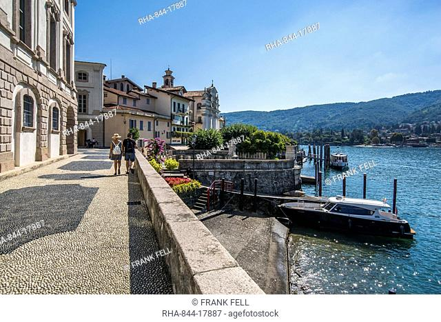 View of architecture on Isola Bella, Borromean Islands, Lago Maggiore, Piedmont, Italian Lakes, Italy, Europe