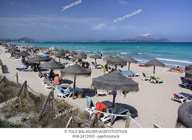 Can Picafort,playa de Muro, municipio de Santa Margarita, Bahia de Alcudia,islas baleares, Spain