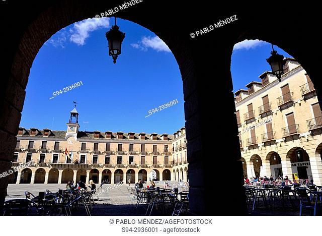 Main square of Ocaña, Toledo, Spain