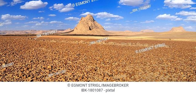 Remains of a volcano, Hoggar, Ahaggar Mountains, Wilaya Tamanrasset, Algeria, Sahara, North Africa