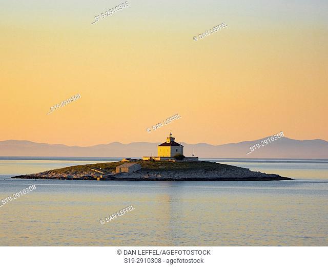 Hvar Village on Hvar Island Croatia Lighthouse