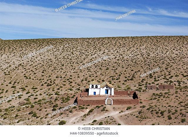 Chile, South America, Machuca, Iglesia, near San Pedro de Atacama, Altiplano, Antofagasta, landscape, South America, d