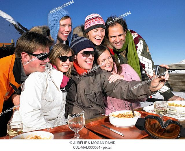 Group taking picture of themselves