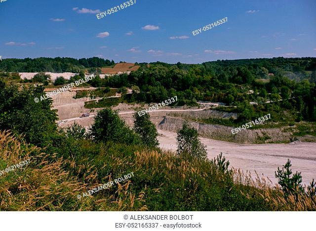 Chalk mine nearby Mielnik in summer, Podlasie Region, Poland, Europe