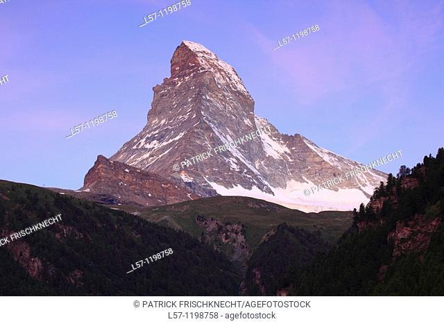 Matterhorn at dawn, Wallis, Switzerland