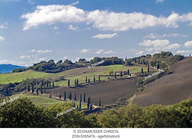 Landschaft in der Crete bei Montepulciano