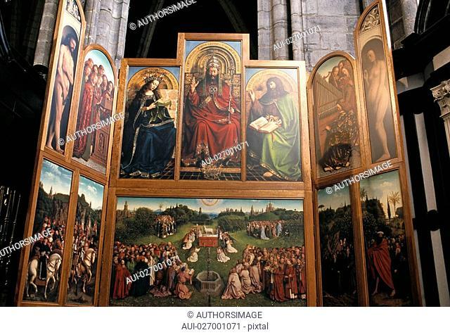 Belgium - Flanders - Ghent - St Bavo Cathedral - Mystic Lamb