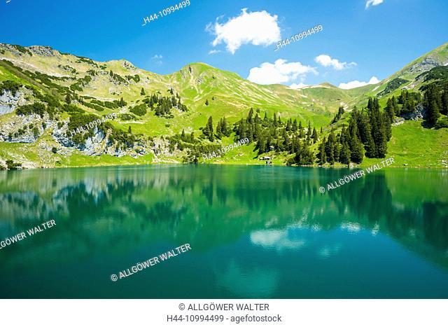 Seealpsee, Allgäu Alps, Allgäu, Bavaria, Germany, Europe