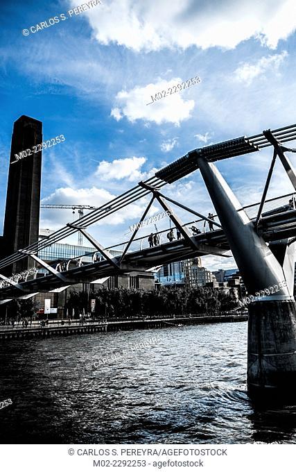 The Millenium Bridge at London, England