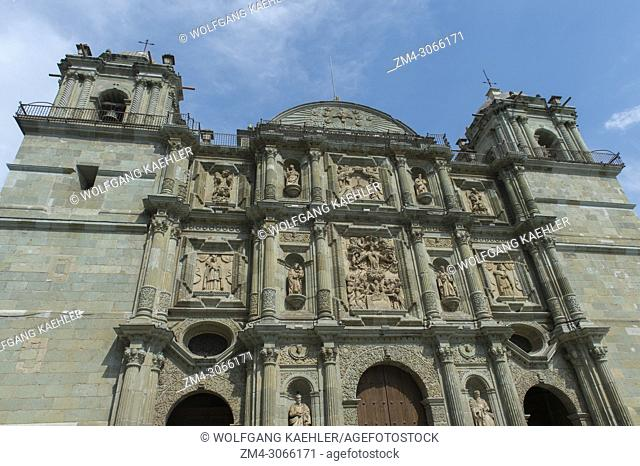 The Cathedral of Our Lady of the Assumption built in a neoclassical style, in the city of Oaxaca de Juarez, Oaxaca, Mexico