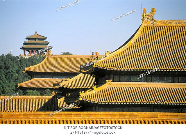Roofs, Forbidden City, Beijing, China