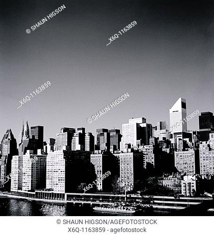 A cityscape view of Manhattan in New York City in the United States of America USA