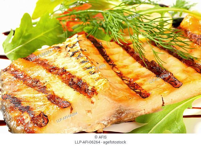 Grilled carp fillets