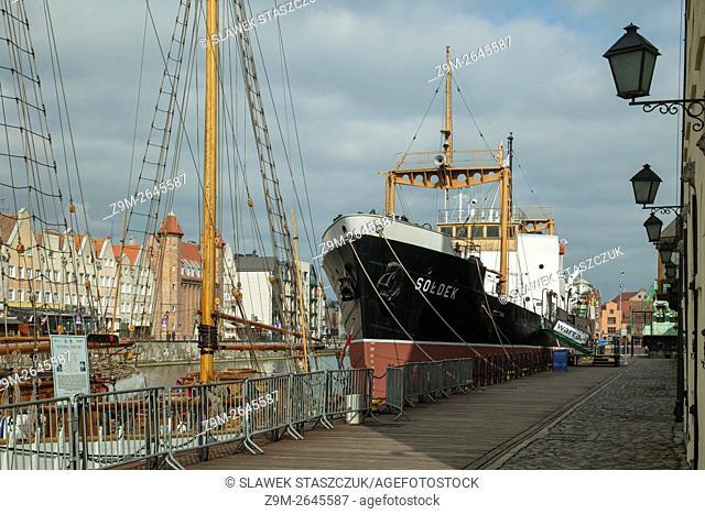 Soldek ship museum in at Granary Island in Gdansk old town, pomorskie, Poland