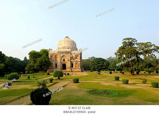 Domed Sheesh Gumbad tomb and gardens