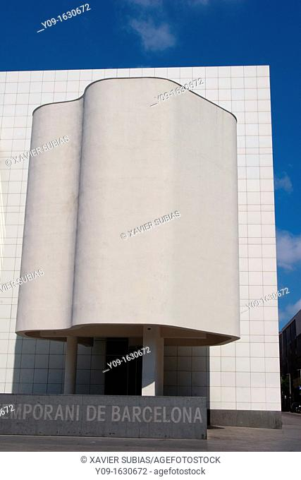 Museu d'Art Contemporani de Barcelona, MACB, Architect Richard Meier, Barcelona, Catalonia, Spain
