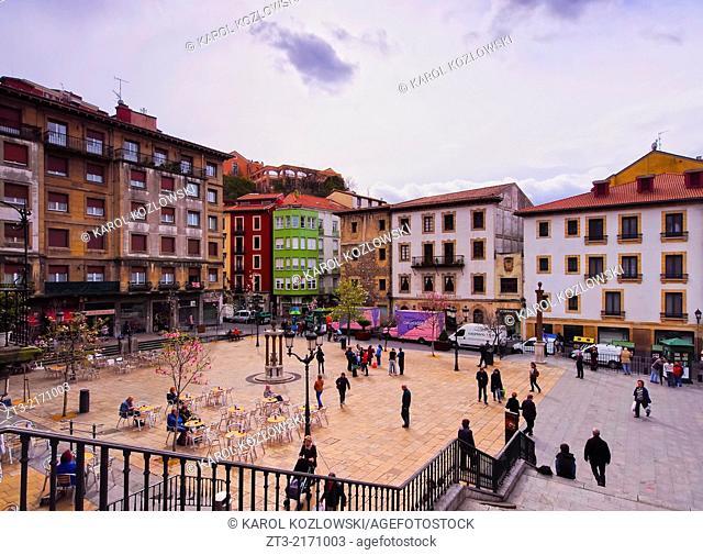 Plaza Unamuno - square in Bilbao, Biscay, Basque Country, Spain