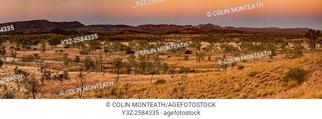 MacDonnell ranges, evening light, near Glen Helen, Northern Territory
