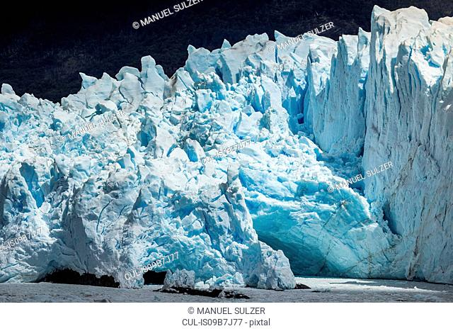 View of Perito Moreno Glacier in Los Glaciares National Park, Patagonia, Chile