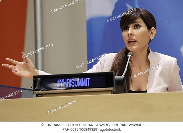 United Nations, New York, USA, July 06 2018 - Actress Marisol Nichols participated on the 15th Annual International Human Rights Summit today at the UN...