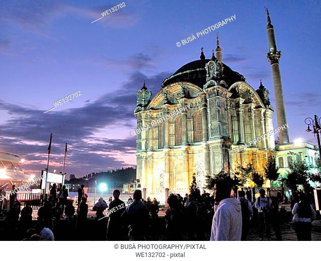 Ortakoy Mosque, Instanbul, at twilight