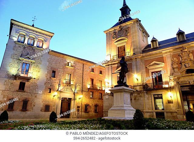 Plaza de la Villa or Villa's square in center of Madrid, Spain