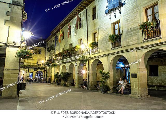 Old Councill square of Laguardia, La Rioja, Alava, Basque country, Spain