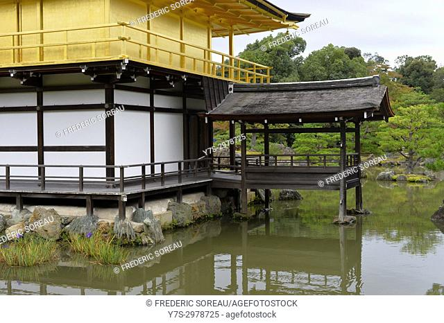 Kinkaku-ji, temple of the Golden Pavillion, Kyoto, Japan, Asia