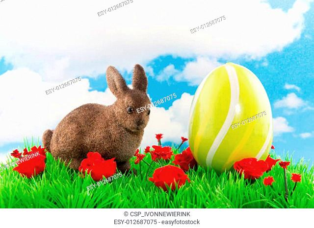 Easter hare with egg