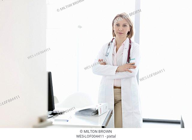 Portrait of doctor in medical practice