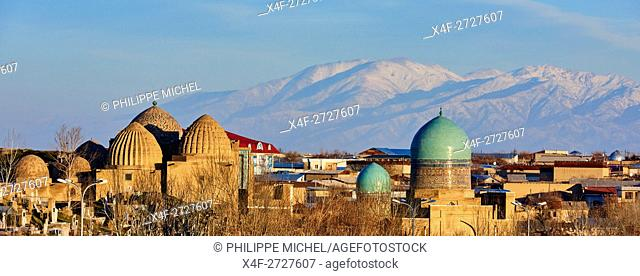 Uzbekistan, Samarkand, Unesco World Heritage, the Reghistan, Shah i Zinda mausoleum