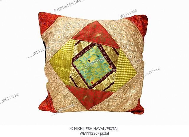 Ethnic colourful square cushion