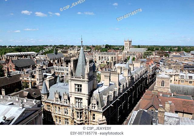An aerial view of Cambridge's historical buildings -  Cambridge - England