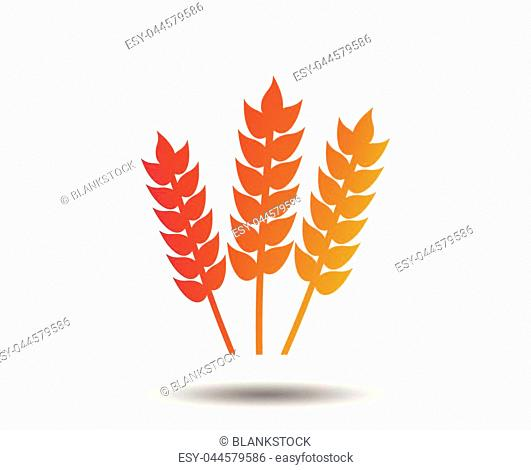 Agricultural sign icon. Gluten free or No gluten symbol. Blurred gradient design element. Vivid graphic flat icon. Vector
