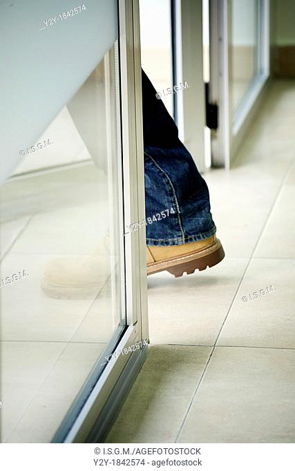 Man leaving work