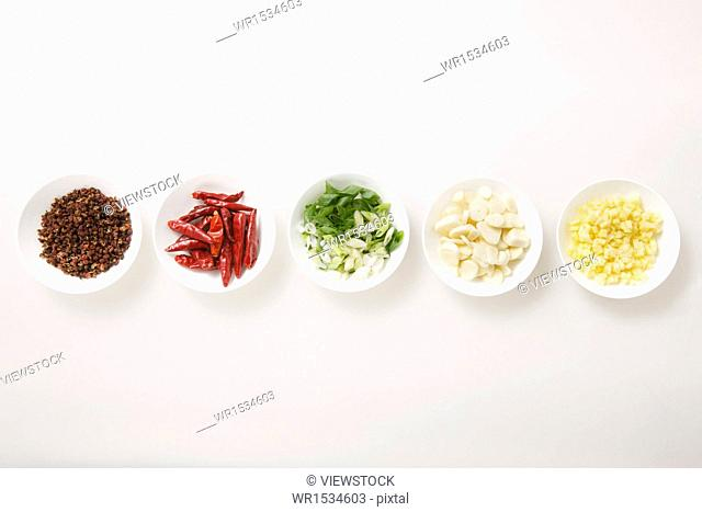 All kinds of spices