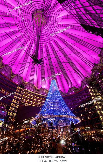 Illuminated dome of Sony Center