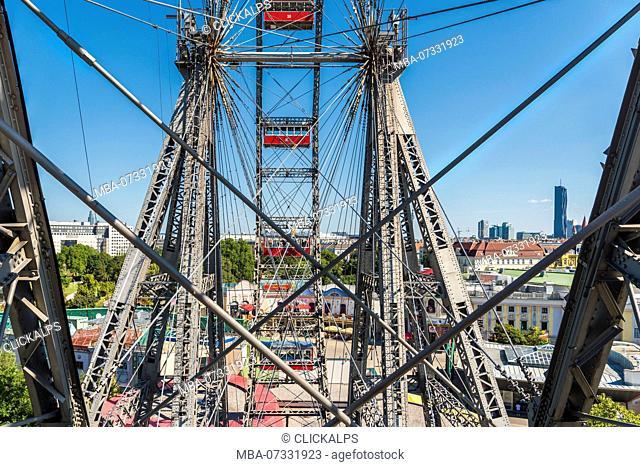 Vienna, Austria, Europe. The Giant Ferris Wheel