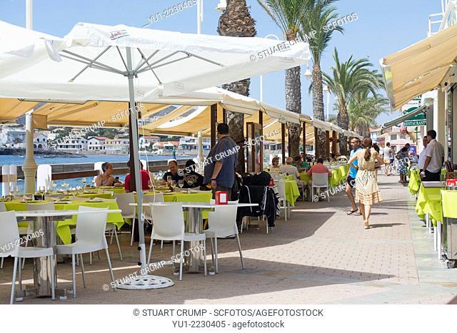 Restaurants at Cabo de Palos, Murcia, Costa Calida, Spain, Europe
